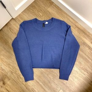 H&M Purple Cropped Sweater